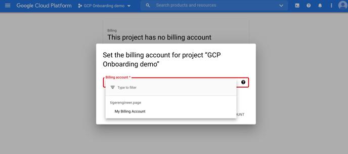 6 - Billing account drop down box
