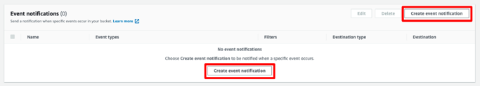 Create Event Notification