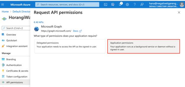 2.api permission application permission microsoft graph copy